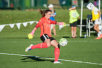 Kansas City, MO - Sunday September 11, 2016: Alyssa Naeher during a regular season National Women's Soccer League (NWSL) match between FC Kansas City and the Chicago Red Stars at Swope Soccer Village.