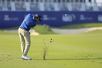 Clement Sordet (FRA) during the first round of the NBO Open played at Al Mouj Golf, Muscat, Sultanate of Oman. <br /> 15/02/2018.<br /> Picture: Golffile | Phil Inglis<br /> <br /> <br /> All photo usage must carry mandatory copyright credit (&copy; Golffile | Phil Inglis)