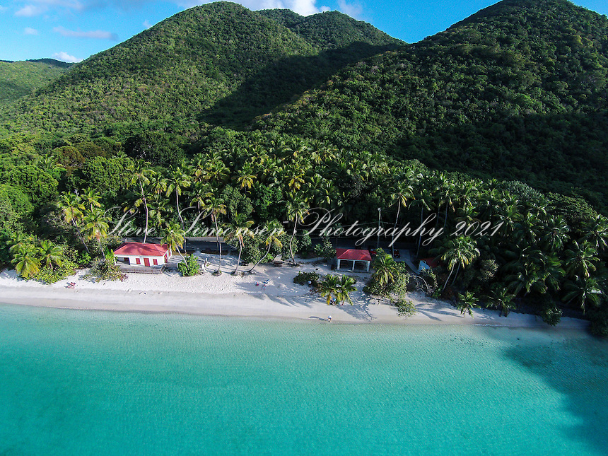 Aerial view of Maho Bay<br /> Virgin Islands National Park<br /> St. John<br /> U.S. Virgin Islands