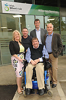 IWA CEO Rosemary Keogh and IWA Service Coordinator Terry OÕBrien with Barry Moran, Builder, Padraig Brosnan, Quantity Surveyor and Noel Clarke, Project Manager,  at the opening of the Irish Wheelchair Association new Community Centre at The Reeks Gateway, Killarney on Friday. Picture: macmonagle.com