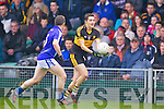Brian Looney of Dr Crokes and Martin Oige Murphy of Cratloe in the AIB Munster Senior Football Final played last Sunday in The Gaelic Grounds, Limerick.