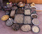 A vendor selling frankincense, myrrh, and amber for incense in Petra in the Hashemite Kingdom of Jordan.  Petra Archeological Park is a Jordanian National Park and a UNESCO World Heritage Site.
