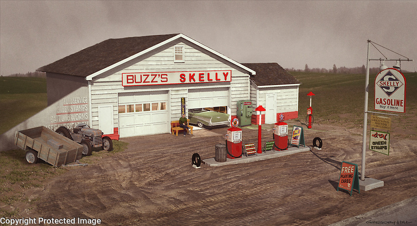 Once the preliminary sketch was approved I built a 3D model of the dressed location to use as a basis for color sketches.