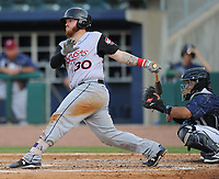 NWA Democrat-Gazette/ANDY SHUPE<br /> Arkansas Travelers catcher Tyler Marlette connects Saturday, June 10, 2017, for a two-run home run during the fifth inning against the Northwest Arkansas Naturals at Arvest Ballpark in Springdale. Visit nwadg.com/photos to see more photographs from the game.