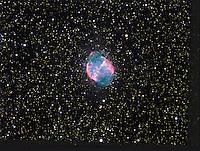 m27, messier 27, dumbell nebula, planetary nebula,