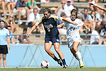 15 September 2013: Notre Dame's Cari Roccaro (5) and North Carolina's Paige Nelsen (24). The University of North Carolina Tar Heels hosted the University of Notre Dame Fighting Irish at Fetzer Field in Chapel Hill, NC in a 2013 NCAA Division I Women's Soccer match. Notre Dame won the game 1-0.