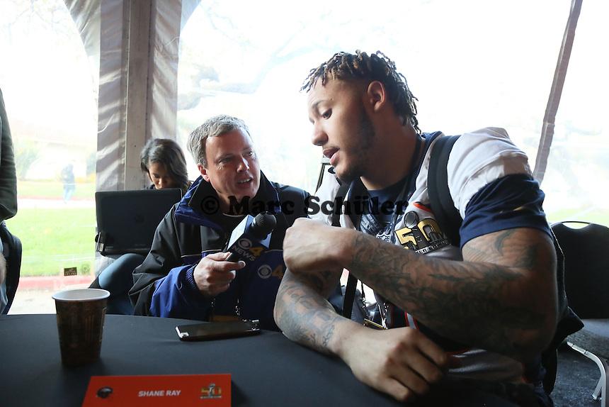 LB Shane Ray (Broncos) - Super Bowl 50 Denver Broncos PK, Marriott Santa Clara