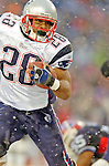 New England Patriotsrunningback Corey Dillon (28) rushes for yardage against the Buffalo Bills at Ralph Wilson Stadium in Orchard Park, NY, on December 11, 2005 . The Patriots defeated the Bills 35-7. Mandatory Photo Credit: Ed Wolfstein