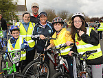 Fergal, Pauline and Tadhg Kellett and Avril, Gerard and Megan Burton who took part in the Glyde Rangers annual sponsored cycle in Tallinstown. Photo: Colin Bell/pressphotos.ie