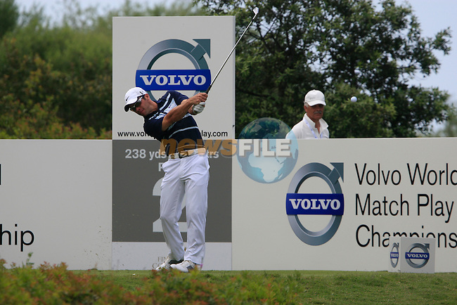Paul Casey (ENG) tees off on the 2nd tee during the afternoon session on Day 2 of the Volvo World Match Play Championship in Finca Cortesin, Casares, Spain, 20th May 2011. (Photo Eoin Clarke/Golffile 2011)