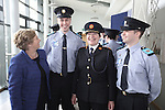 15/9/2014    The Minister for Justice & Equality Frances Fitzgerald, TD and Garda Commissioner Noirin O'Sullivan met with the first group of students who arrived at the Garda College since 2009 in Templemore including brothers Brian and Joseph Bell from Tallagh.  Picture Liam Burke Press 22