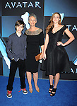 """HOLLYWOOD, CA. - December 16: Jamie Lee Curtis with son and daughter Tom Guest and Annie Guest attend the Los Angeles premiere of """"Avatar"""" at Grauman's Chinese Theatre on December 16, 2009 in Hollywood, California."""