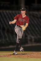 AZL Diamondbacks relief pitcher Harrison Francis (38) follows through on his delivery during an Arizona League game against the AZL Cubs 1 at Sloan Park on June 18, 2018 in Mesa, Arizona. AZL Diamondbacks defeated AZL Cubs 1 7-0. (Zachary Lucy/Four Seam Images)