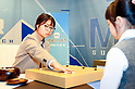 Japanese Go player Sumire Nakamura plays against South Korean professional Go player Choi Jeong