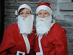 Susan Markey and Elizabeth Dunne who took part in the Santa Run at Scotch Hall. Photo: Colin Bell/pressphotos.ie
