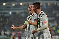 30th October 2019; Allianz Stadium, Turin, Italy; Serie A Football, Juventus versus Genoa; Leonardo Bonucci of Juventus celebrates after scoring the goal in the 37th minute - Editorial Use