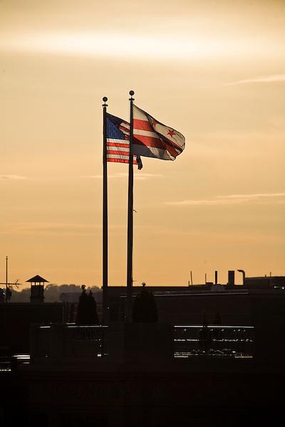 DC US Flags Washington DC Architecture