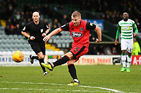 Sebastian Ring of Grimsby Town has a shot on goal during Yeovil Town vs Grimsby Town, Sky Bet EFL League 2 Football at Huish Park on 9th February 2019
