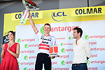 Latvian Champion Toms Skujins (LAT) Trek-Segafredo wins the day's combativity prize at the end of Stage 5 of the 2019 Tour de France running 175.5km from Saint-Die-des-Vosges to Colmar, France. 10th July 2019.<br /> Picture: ASO/Alex Broadway | Cyclefile<br /> All photos usage must carry mandatory copyright credit (© Cyclefile | ASO/Alex Broadway)