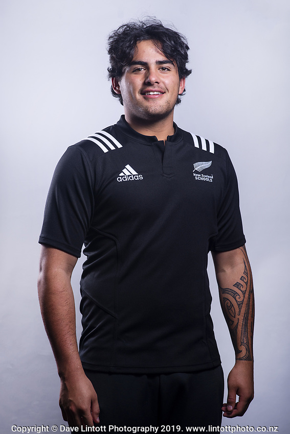 Meihana Grindlay (King's College). 2019 New Zealand Schools rugby union headshots at the Sport & Rugby Institute in Palmerston North, New Zealand on Wednesday, 25 September 2019. Photo: Dave Lintott / lintottphoto.co.nz