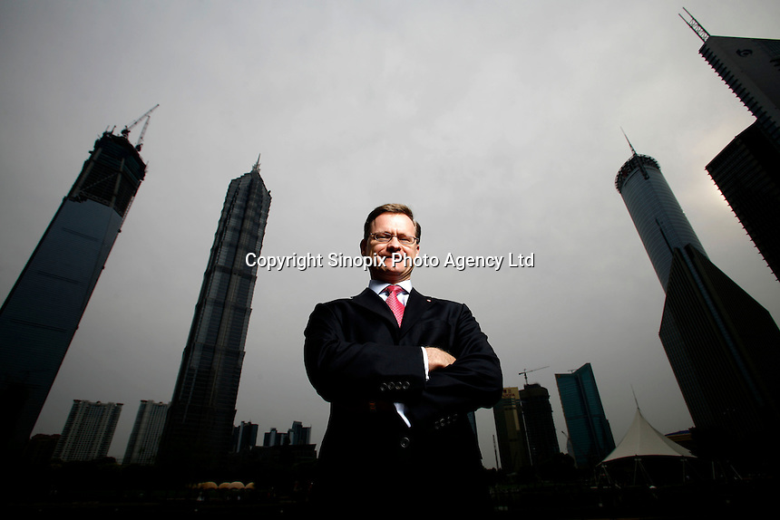 Richard Yorke, Chief Executive Officer of HSBC Bank (China) Company Limited in Shanghai, China. For the Times (UK). ©Qilai Shen/Sinopix