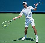 Novak Djokovic (SRB) defeats Andreas Seppi (ITA) 7-6(4), 6-2