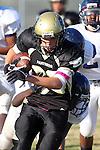 Palos Verdes, CA 10/20/11 - Luke Morrow (Peninsula #33) in action during the Leuzinger vs Peninsula JV football game.