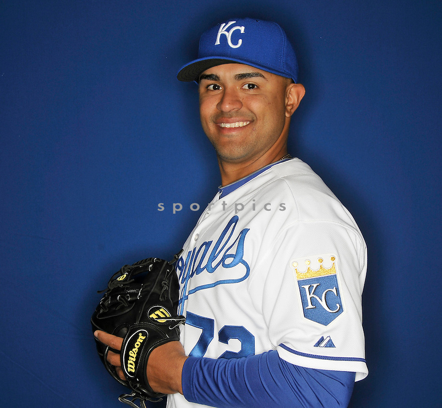 Kansas City Royals Christian Colon (72) during media photo day on February 21, 2013 at spring training in Surprise, AZ.