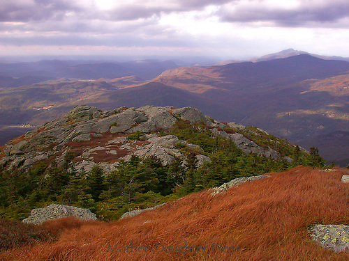View from camels hump mountain in Vermont Green Mountains, New England