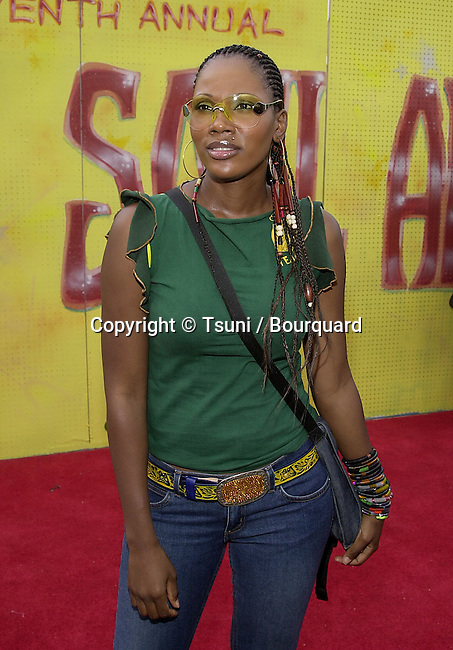 Pru arriving at the 7th Annual Soul Train, Lady of Soul Awards at the Santa Monica Auditorium in Los Angeles. August 28, 2001 © Tsuni          -            Pru01.jpg