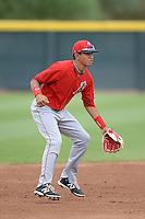 Los Angeles Angels of Anaheim shortstop Franklin Torres (3) during an Instructional League game against the Arizona Diamondbacks on October 7, 2014 at Salt River Fields at Talking Stick in Scottsdale, Arizona.  (Mike Janes/Four Seam Images)