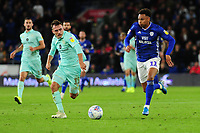 Josh Murphy of Cardiff City in action during the Sky Bet Championship match between Cardiff City and Queens Park Rangers at the Cardiff City Stadium in Cardiff, Wales, UK. Wednesday 02 October, 2019