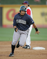 New Orleans Zephyrs OF Chris Aguila on Sunday June 1st at Dell Diamond in Round Rock, Texas. Photo by Andrew Woolley / Four Seam Images.