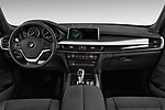 Stock photo of straight dashboard view of a 2017 BMW X5 xDrive35d 5 Door SUV