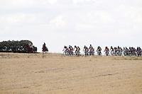 The peloton near a jockey and an amazon on their horses during the stage of La Vuelta 2012 beetwen Penafiel-La Lastrilla.September 7,2012. (ALTERPHOTOS/Paola Otero) /NortePhoto.com<br /> <br /> **CREDITO*OBLIGATORIO** *No*Venta*A*Terceros*<br /> *No*Sale*So*third* ***No*Se*Permite*Hacer Archivo***No*Sale*So*third