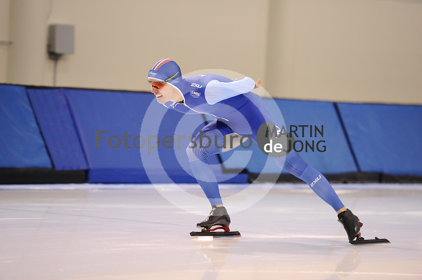 SPEEDSKATING: SALT LAKE CITY: 06-12-2017, Utah Olympic Oval, ISU World Cup, training, Simen Spieler Nilsen (NOR), photo Martin de Jong