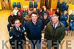 Community Alert : Attending the community alert meeting in the Marian Hall, Moyvane on Monday night were Sgt. Paula Kelliher,Listowel Gardai, Neilus O'Connor & Diarmuid Cronin , Community Development Officer, Muinter na Tire.
