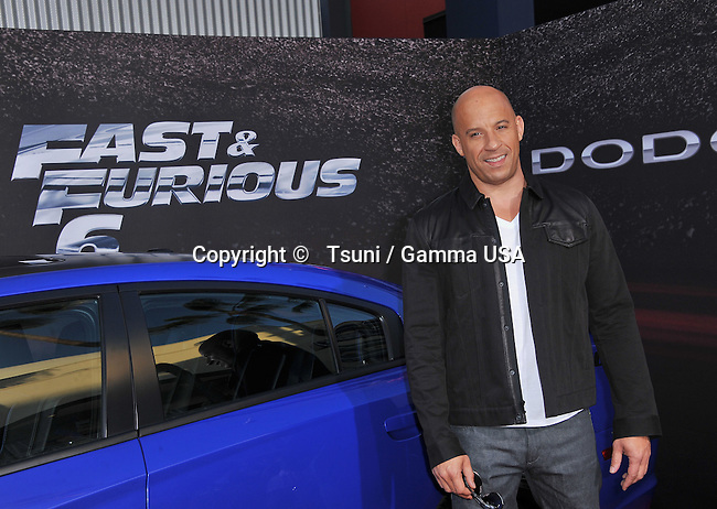 Vin Diesel   at the Fast And Furious 6 Premiere at the Universal Amphitheatre in Los Angeles.