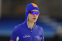 SCHAATSEN: HEERENVEEN: 04-02-2017, KPN NK Junioren, Junioren B Heren 500m, Wesley Hollenberg, ©foto Martin de Jong