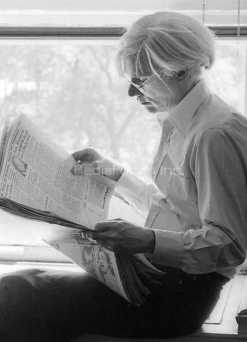 Andy Warhol 1979<br /> Photo By Adam Scull/PHOTOlink/MediaPunch