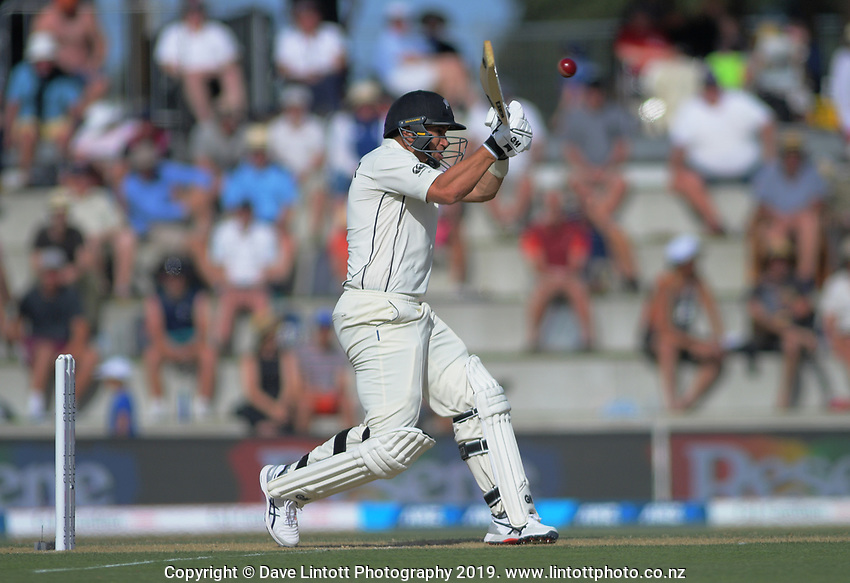 NZ's Ross Taylor bats during day two of the international cricket 1st test match between NZ Black Caps and England at Bay Oval in Mount Maunganui, New Zealand on Friday, 22 November 2019. Photo: Dave Lintott / lintottphoto.co.nz