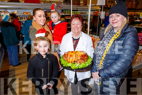 Rebecca, Abilgail, Amelia and Marion Walsh from Castleisland sampling some of Kathleen O'Sullivan's cooked ham in Garveys Supervalu Castleisland's Food Fair on Tuesday.