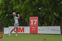 Min Woo LEE (AUS) watches his tee shot on 17 during Rd 3 of the Asia-Pacific Amateur Championship, Sentosa Golf Club, Singapore. 10/6/2018.<br /> Picture: Golffile | Ken Murray<br /> <br /> <br /> All photo usage must carry mandatory copyright credit (© Golffile | Ken Murray)