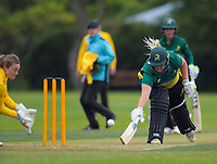Central's Jess Watkin makes her ground during the women's Hallyburton Johnstone Shield cricket match between the Wellington Blaze and Central Hinds at Karori Park in Wellington, New Zealand on Sunday, 1 December 2019. Photo: Dave Lintott / lintottphoto.co.nz