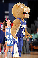 25 February 2012:  FIU's mascot, Roary, fires up the crowd in the first half as the FIU Golden Panthers defeated the University of South Alabama Jaguars, 81-74, at the U.S. Century Bank Arena in Miami, Florida.