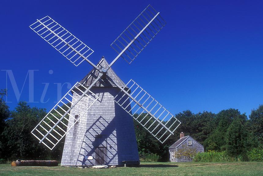 AJ1486, windmill, Cape Cod, Massachusetts, Brewster, 1795 Windmill at the Brewster Historical Society in Brewster, Massachusetts.