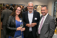 All smiles from left are Katie Aungles of Nook & Cranny, John Collins from the Rushcliffe Business Partnership and Richard Altoft from Handelsbanken