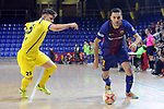League LNFS 2017/2018 - Game 15.<br /> FC Barcelona Lassa vs Gran Canaria FS: 9-2.<br /> Michael Lopez vs Dyego.