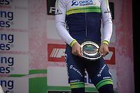 Michael Matthews (AUS/Orica-GreenEDGE) on the podium<br /> <br /> 106th Milano - San Remo 2015