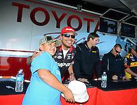 26-28 October, 2012, Las Vegas, Nevada USA, Cruz Pedregon, Snap-On Tools, Toyota Camry, pit pass, fans @2012, Mark J. Rebilas